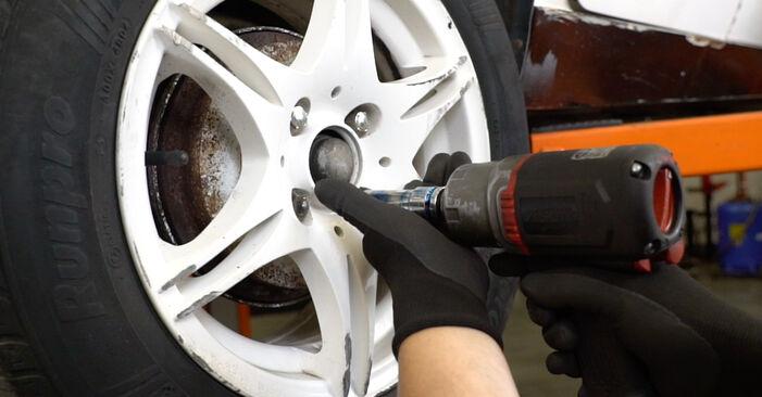 Wechseln Bremstrommel am VW GOLF III (1H1) 1.9 TDI 1994 selber