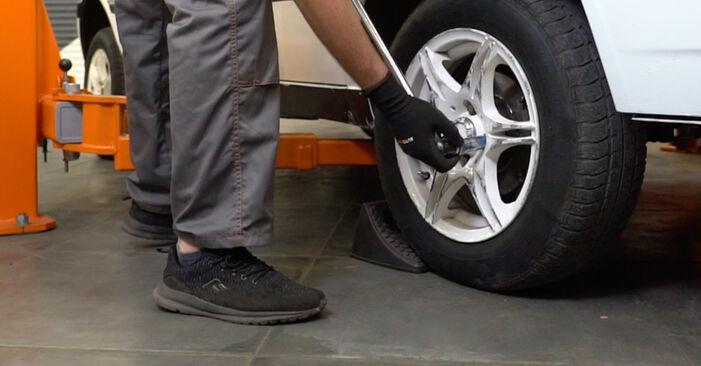 VW Golf III 2.0 1993 Courroie Trapézoïdale à Nervures remplacement : manuels d'atelier gratuits