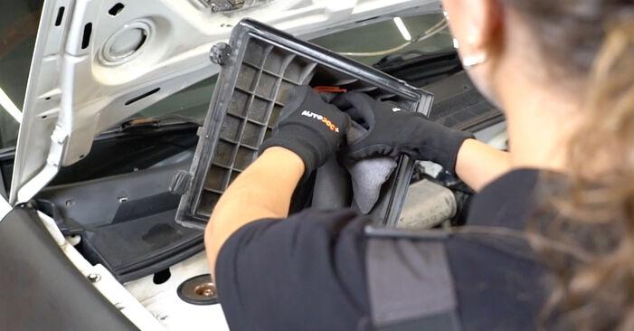 Luftfilter am VW GOLF III (1H1) 1.9 D 1996 wechseln – Laden Sie sich PDF-Handbücher und Videoanleitungen herunter