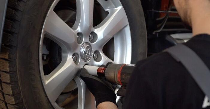 Смяна на Toyota RAV4 III 2.0 4WD (ACA30_) 2007 Амортисьор: безплатни наръчници за ремонт