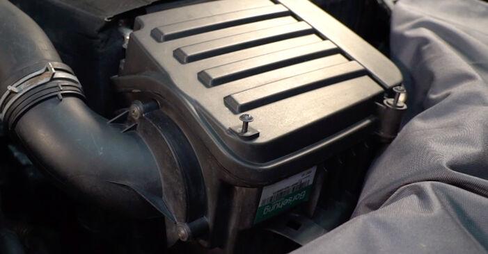 Golf V Schrägheck (1K1) 2.0 TDI 16V 2007 1.6 Luftfilter - Handbuch zum Wechsel und der Reparatur eigenständig