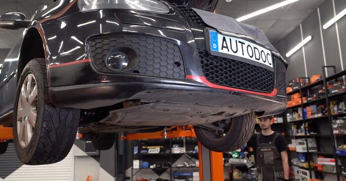 Tausch Tutorial Kraftstofffilter am VW Golf V Schrägheck (1K1) 2008 wechselt - Tipps und Tricks