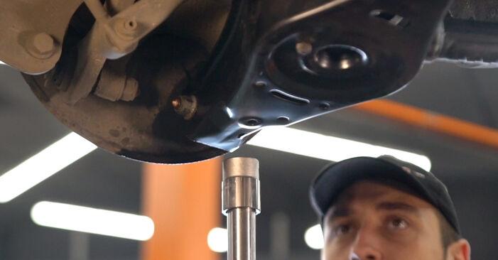 VW GOLF 2003 Tlmič pruzenia návod na výmenu, krok po kroku