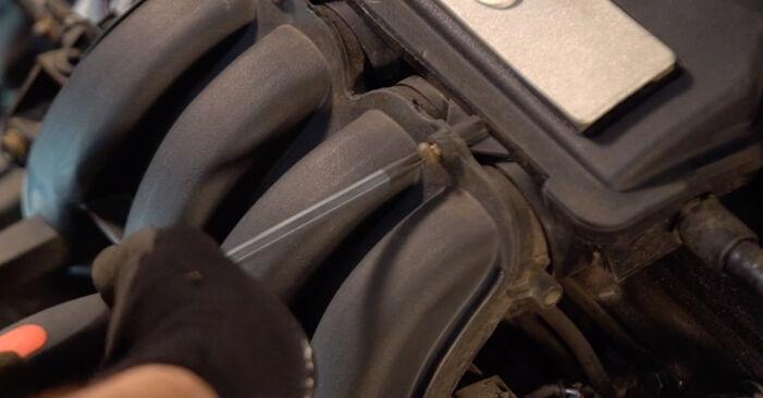 VW GOLF 1.6 Zündkerzen ausbauen: Anweisungen und Video-Tutorials online