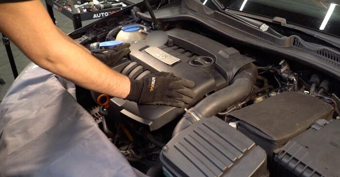 Wie Zündkerzen VW Golf V Schrägheck (1K1) 1.6 2004 austauschen - Schrittweise Handbücher und Videoanleitungen