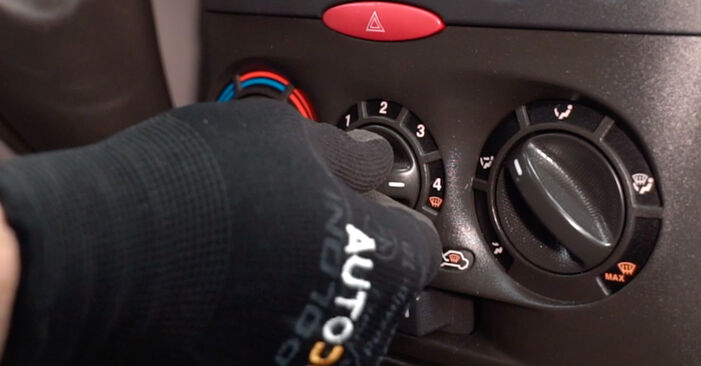 FIAT PUNTO 1.2 Bifuel Innenraumfilter ausbauen: Anweisungen und Video-Tutorials online