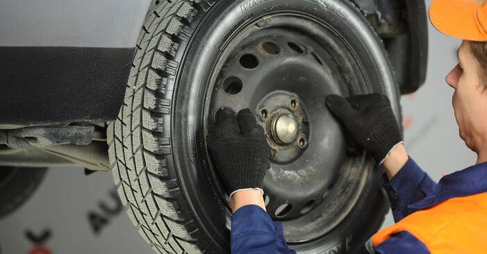FIAT PUNTO 1.2 Bifuel Bremsbacken ausbauen: Anweisungen und Video-Tutorials online