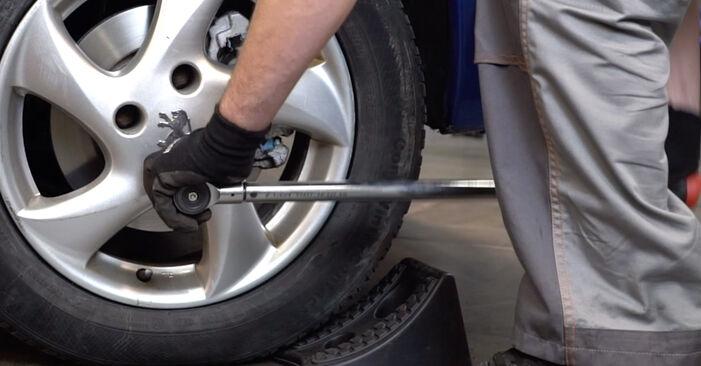 Byta Peugeot 206 cc 2d 2.0 S16 2002 Stabilisatorstag: gratis verkstadsmanualer