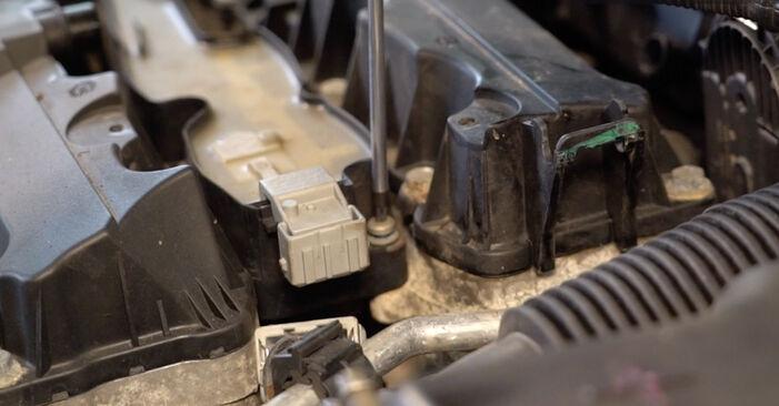Quão difícil é efetuar a substituição de Vela de Ignição no Peugeot 206 cc 2d 1.6 HDi 110 2006 por si mesmo - descarregue o guia ilustrado