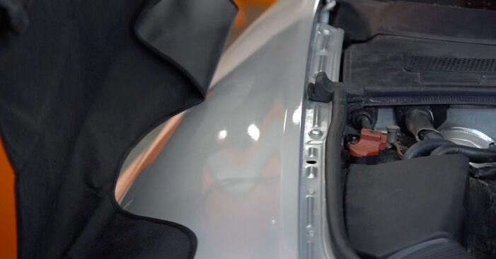 Pasikeiskite AUDI A6 Sedanas (4F2, C6) 2.4 2010 Amortizatorius patys - internetinė instrukcija