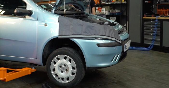 Wie schwer ist es, selbst zu reparieren: Federn Fiat Punto 188 1.4 2005 Tausch - Downloaden Sie sich illustrierte Anleitungen