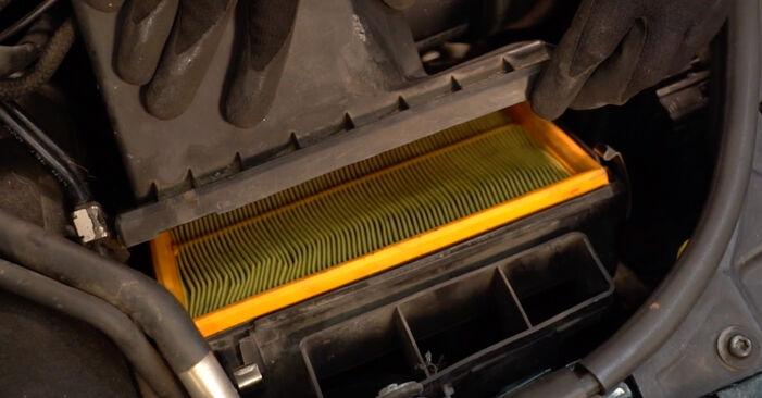VW PASSAT 2001 Oro filtras išsami keitimo instrukcija