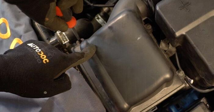 Austauschen Anleitung Luftfilter am Peugeot 206 CC 2001 1.6 16V selbst