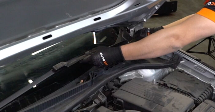 VW GOLF 1.6 Wischerarm ausbauen: Anweisungen und Video-Tutorials online