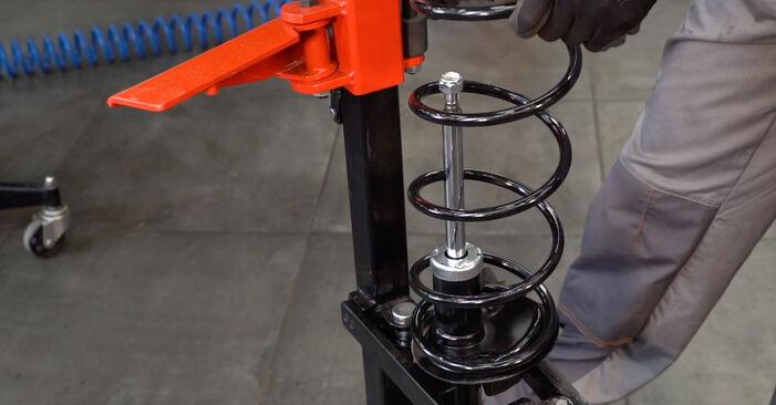 Trinn-for-trinn anbefalinger for hvordan du kan bytte Peugeot 206 cc 2d 2004 1.6 16V Støtdemper selv