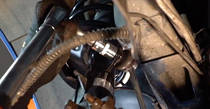 Vanskelighetsgrad: Bytte av Støtdemper på Peugeot 206 cc 2d 1.6 HDi 110 2006 – last ned illustrert veiledning