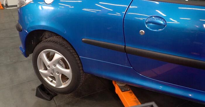 Stoßdämpfer Peugeot 206 CC 1.6 HDi 110 2002 wechseln: Kostenlose Reparaturhandbücher