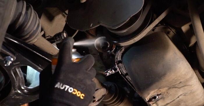 Austauschen Anleitung Ölfilter am Renault Twingo Mk1 2003 1.2 selbst