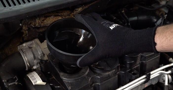 Tausch Tutorial Ölfilter am VW TOURAN (1T1, 1T2) 2007 wechselt - Tipps und Tricks
