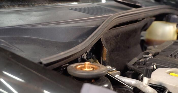 Patstāvīga RENAULT CLIO II (BB0/1/2_, CB0/1/2_) 1.5 dCi 2012 Salona filtrs nomaiņa - tiešsaistes pamācība