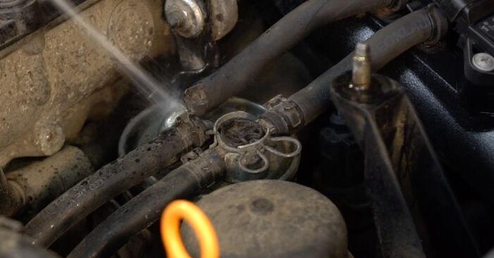 Wie AUDI A4 2.5 TDI 2001 Kraftstofffilter ausbauen - Einfach zu verstehende Anleitungen online