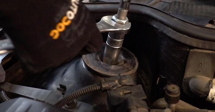 Wechseln Stoßdämpfer am OPEL Corsa C Schrägheck (X01) 1.2 Twinport (F08, F68) 2003 selber