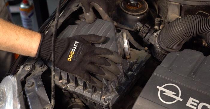 Corsa C Хечбек (X01) 1.7 DTI (F08, F68) 2001 Въздушен филтър наръчник за самостоятелна смяна от производителя