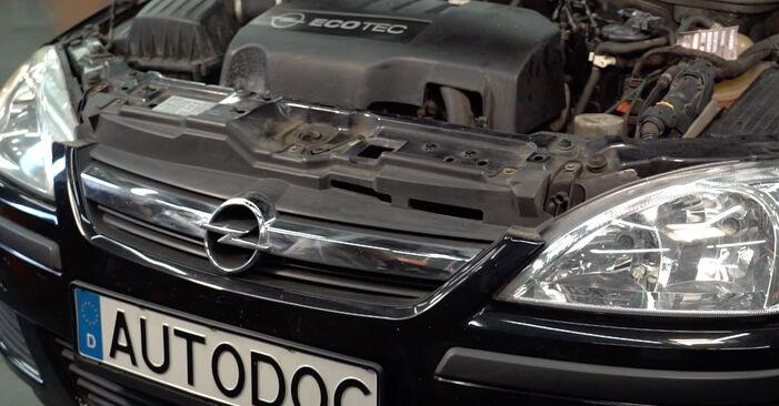 Как се сменя Въздушен филтър на Opel Corsa C 2000 - безплатни PDF и видео уроци