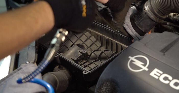Колко време отнема смяната: Въздушен филтър на Opel Corsa C 2008 - информативен PDF наръчник