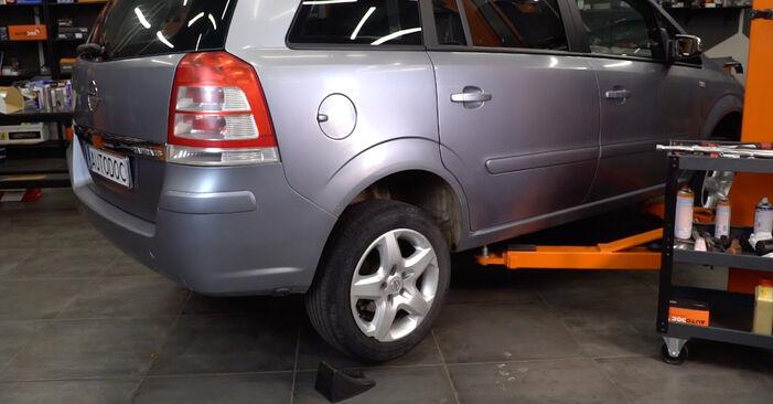 Opel Zafira B 1.8 (M75) 2007 Stoßdämpfer wechseln: Kostenfreie Reparaturwegleitungen