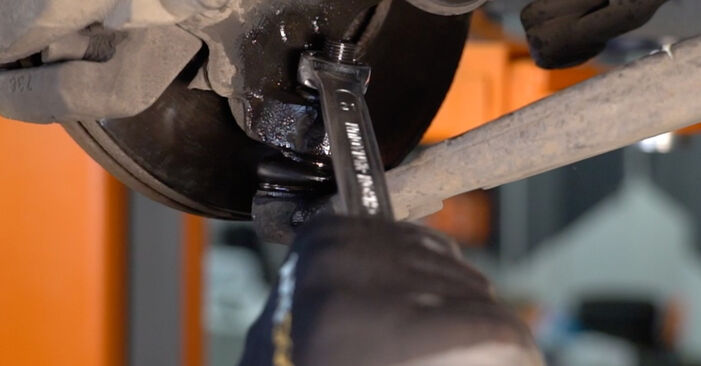 How to remove VOLVO V50 1.8 FlexFuel 2007 Shock Absorber - online easy-to-follow instructions