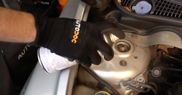 Volvo V50 545 1.6 D 2005 Shock Absorber replacement: free workshop manuals
