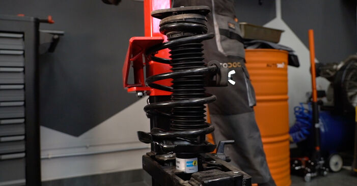 Step-by-step recommendations for DIY replacement Volvo V50 545 2006 1.8 FlexFuel Shock Absorber