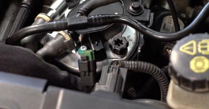 Slik skifte VOLVO V50 1.8 FlexFuel 2007 Drivstoffilter – enkle instruksjoner på nettet som er lette å følge