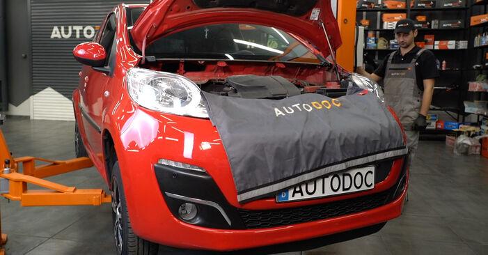 Koppelstange PEUGEOT 107 1.0 2007 wechseln: Kostenlose Reparaturhandbücher