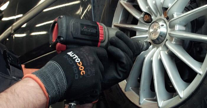 Hvordan bytte Stabilisatorstag på FORD Fiesta Mk5 Hatchback (JH1, JD1, JH3, JD3) 1.25 16V 2004 selv