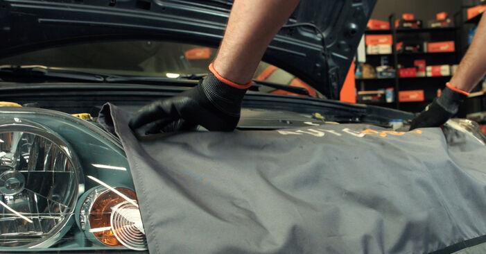 Kaip pakeisti FORD Fiesta Mk5 Hatchback (JH1, JD1, JH3, JD3) 1.4 TDCi 2002 Oro filtras - išsamios instrukcijos ir vaizdo pamokos