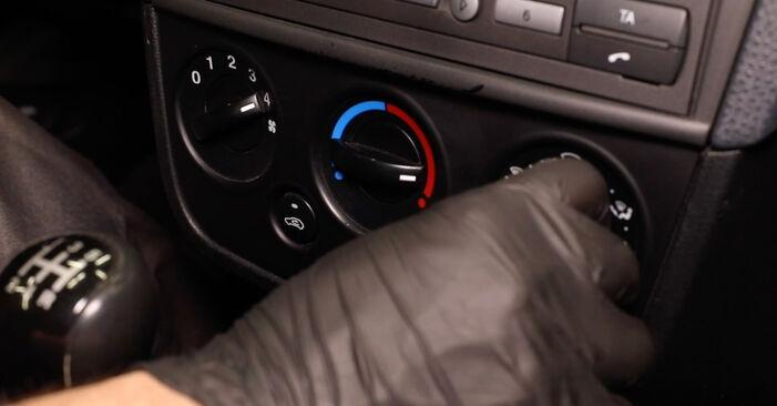 Kaip pakeisti FORD Fiesta Mk5 Hatchback (JH1, JD1, JH3, JD3) 2003 Oro filtras, keleivio vieta - patarimai ir gudrybės