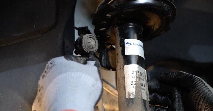 Austauschen Anleitung Stoßdämpfer am Mercedes W245 2008 B 180 CDI 2.0 (245.207) selbst