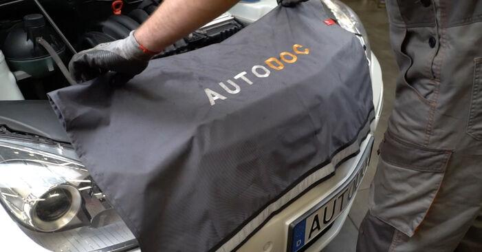 Wie schwer ist es, selbst zu reparieren: Innenraumfilter Mercedes W245 B 180 1.7 (245.232) 2011 Tausch - Downloaden Sie sich illustrierte Anleitungen