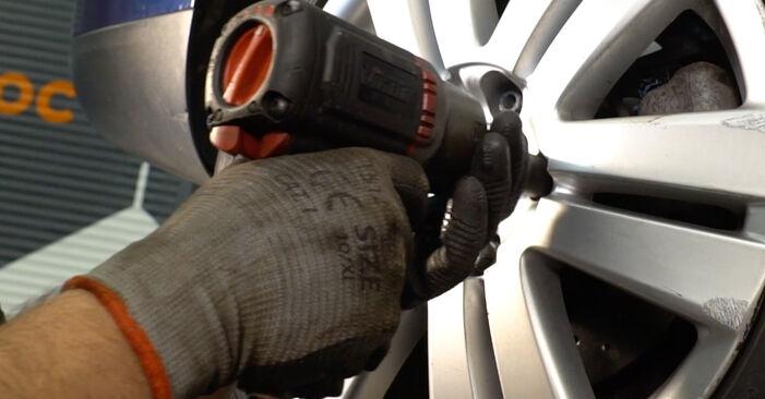 VW PASSAT 2005 Bromsbelägg utbytesmanual att följa steg för steg