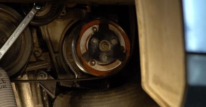 Kaip pakeisti V formos rumbuotas diržas VW Passat Variant (3C5) 2010: atsisiųskite PDF instrukciją ir vaizdo pamokas