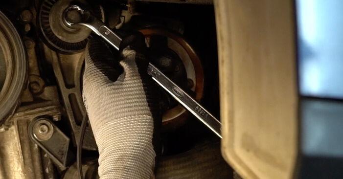 VW PASSAT 2005 V formos rumbuotas diržas išsami keitimo instrukcija