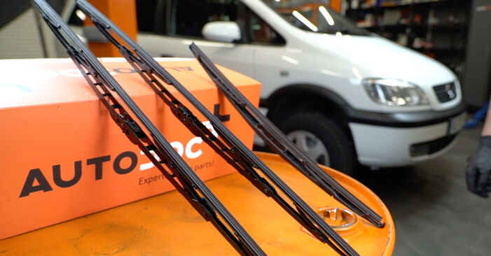 How to change Wiper Blades on Opel Zafira f75 1999 - free PDF and video manuals