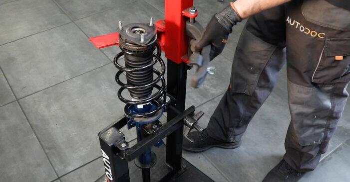 Trinn-for-trinn anbefalinger for hvordan du kan bytte Ford Fiesta Mk5 2004 ST150 2.0 Støtdemper selv