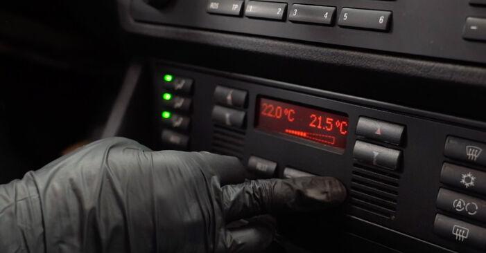BMW E39 530d 3.0 1997 Oro filtras, keleivio vieta keitimas: nemokamos remonto instrukcijos