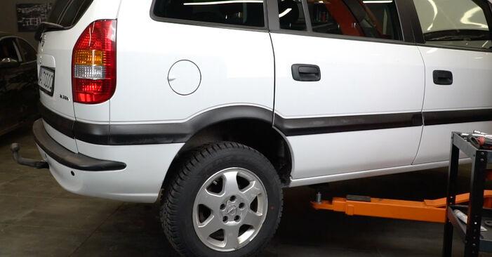 Bytte Opel Zafira f75 1.8 16V (F75) 2001 Støtdemper: gratis verkstedsveiledning
