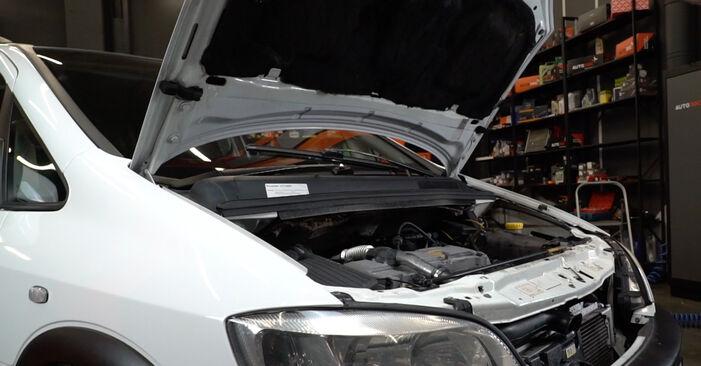 Wie man Luftfilter am Opel Zafira A 1999 ersetzt - Kostenfreie PDF- und Videotipps