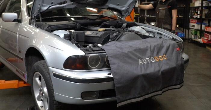 BMW E39 530d 3.0 1997 Biellette De Barre Stabilisatrice remplacement : manuels d'atelier gratuits