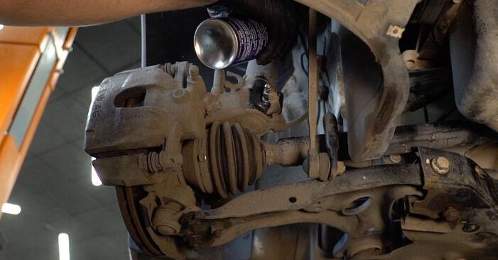 Stoßdämpfer VW Polo 5 Limousine 1.2 TDI 2011 wechseln: Kostenlose Reparaturhandbücher
